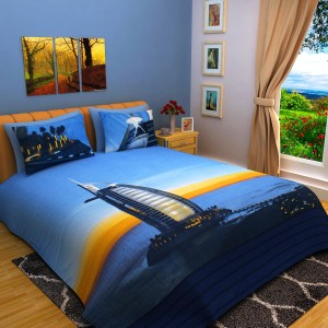 77caec9fcb Bombay Dyeing Cotton Abstract King sized Double Bedsheet 1 King Size ...