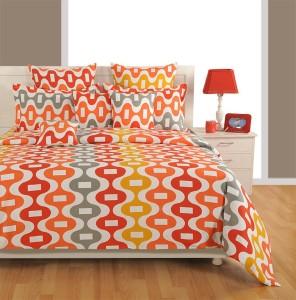 Swayam Cotton Geometric King Sized Double Bedsheet