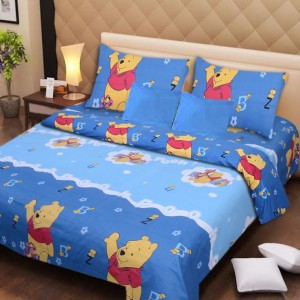 Beau Aazeem Cotton Printed Double Bedsheet