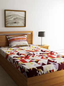 SPACES Cotton Printed Single Bedsheet