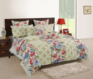 0c6c2ff043 Swayam Cotton Floral King sized Double Bedsheet 1 Extra Large Double ...