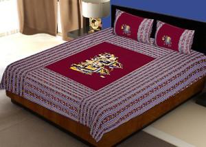 2970c913c7 Jaipur Fabric Cotton Printed Double Bedsheet Quantity Set of 3 ...