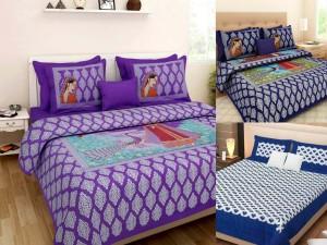 e5d870c2d83 Shop jaipuri cotton rajasthani Cotton Printed King sized Double Bedsheet