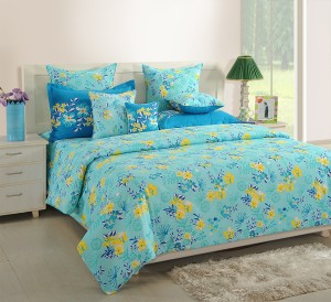 Swayam Cotton Floral King Sized Double Bedsheet