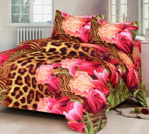 63d0bc0775 IWS Polycotton 3D Printed Double Bedsheet 1 Bedsheet 2 Pillow Covers ...
