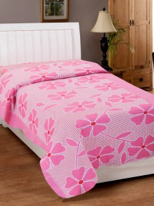 Zesture Cotton Floral Single Bedsheet