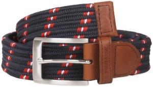 U.S. Polo Assn. Men Casual Blue Genuine Leather Belt