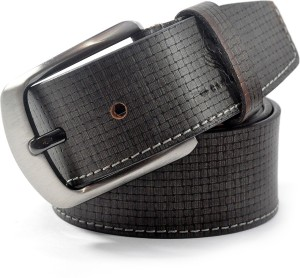 59917993a Cavallo Men Casual Formal Evening Party Grey Genuine Leather Belt Best Price  in India