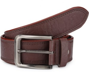 TSX Men Casual, Formal, Party, Evening Brown Artificial Leather Belt