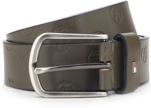 Tommy Hilfiger Men Casual Green Genuine Leather Belt