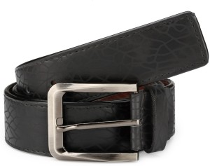 TSX Men Casual, Formal, Party, Evening Black Artificial Leather Belt