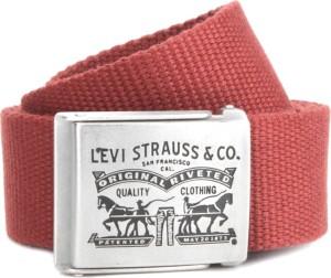 a03006f5961 Levi s Men Red Canvas Belt Best Price in India