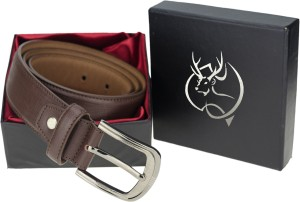 Genious Men Casual, Formal, Party Brown Genuine Leather Belt