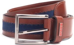 Izod Men Blue, Brown Belt