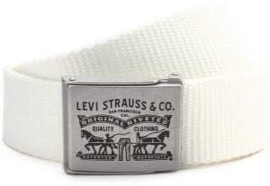 Levi's Men White Canvas Belt