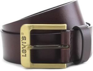 b869808783f Levi s Men Brown Genuine Leather Belt Best Price in India