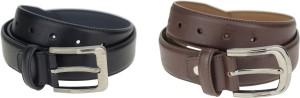 Genious Men Formal, Casual Brown, Black Genuine Leather Belt
