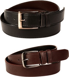 Calibro Boys Formal, Casual, Party Black, Brown Texas Leatherite, Artificial Leather Belt