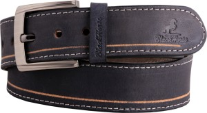 Black Horse Men Casual, Evening, Formal, Party Black Genuine Leather Belt