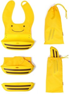 98e889ed89 Baby Oodles Foldable Silicon Bib (Pouch Style) ( Yellow )