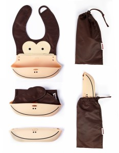 fe0a80442f Baby Oodles Foldable Silicon Bib (Pouch Style) ( Brown )