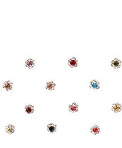 3f3eaaa1b0 Instabuyz Precious stone Women s   Girl s Multicolor BindisFancy Design