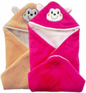 c513e66d457c Brandonn Abstract Single Hooded Baby Blanket Peach Pink Best Price ...