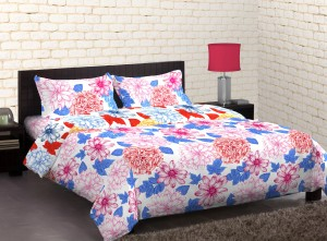 Home Expressions USA Polycotton Floral Double Bedsheet