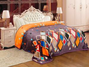 Signature Checkered Double Coral Blanket