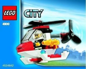 Lego City Mini Set 4900 Fire Helicopter Bagged (34 Pieces)