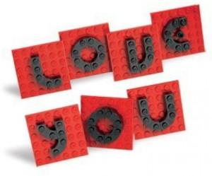 Lego I LOVE YOU Valentine Day Letter Set