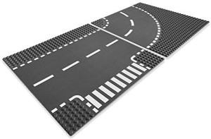 Lego (R) City Road Tjunction & Curve (7281)