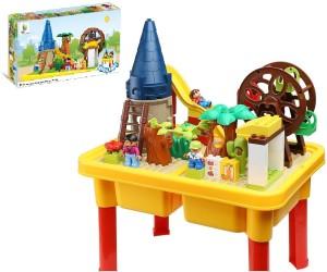 Toys Bhoomi Happy Ville Family Farm Building Blocks Table Set - 54 Pieces