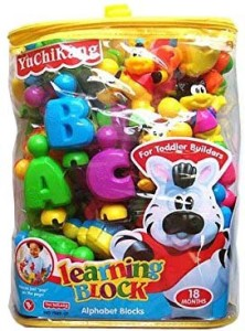 Shop & Shoppee English Learning Blocks For Kids With Cartoon Figures