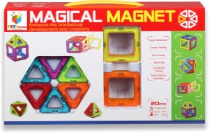 Building Mart 20 Piece Magical Magnetic Building Blocks Learning Toy Set