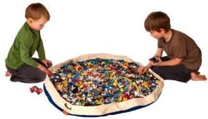 Swoop Bags Original Toy Storage Bag + Playmat, BLUE