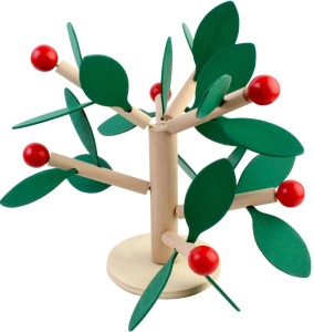 Pigloo Small Fruit Tree Wooden Toy Building Blocks for Kids Ages 3+ Years