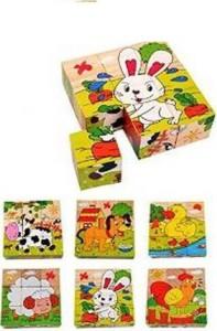 RR Enterprizes 9 Piece Wooden Puzzle Animal/Insect theme