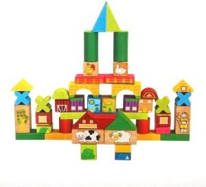 Wishkey Wooden Building Block - 52 Pieces