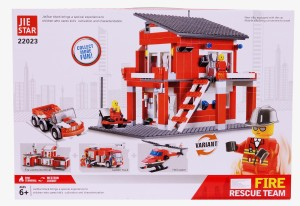 Planet of Toys Fire Rescue Team Building Blocks (558 Pcs)