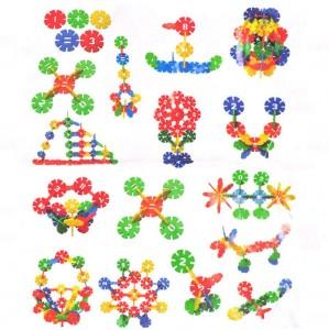 ShopMeFast Creative Plastic Snow Flower Building Blocks DIY Toys For Kids