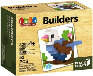 Saffire Play and Create Bird Builders Block Set - 52 Pieces
