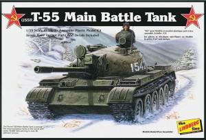 Lindberg USA 1/35 Scale USSR T-55 Battle Tank Plastic Model Kit