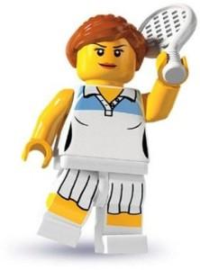 Lego Minis Series 3 Female Tennis Player Mini