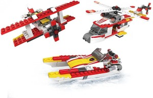 Shrih 3 in 1 Fire Brigade Boat, Helicopter And Plane