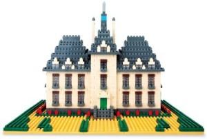 Kawada Nano Tintin Moulinsart Castle 1500Pcs Set