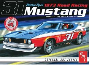 AMT USA 1/25 Scale Warren Tope's 1973 Road Racing Mustang Plastic Model Kit
