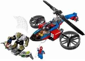 Montez 299 PCS Super Heroes DIY Spider Helicoper Rescue Block Set with Four Minifigures