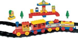 Peacock Kinder Block-Senior Train Set