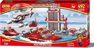 Best-Lock 492 Piece Fire Fighter Block Set